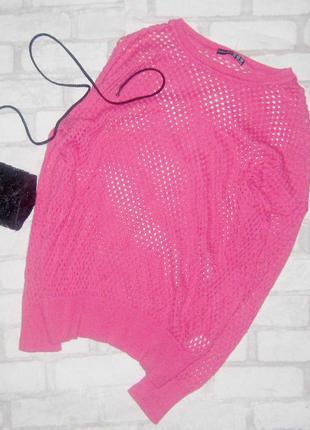Мимишный свитер сетка, трендового цвета весны 2020