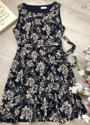 Очень красивое шифоновое платье с поясом, летнее платье