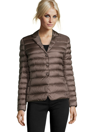 Новый 100% пух. пиджак пуховик add куртка, италия s (it44). тауп