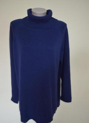 """Красивая брендовая кофта свитер""""под шею"""" большого размера"""