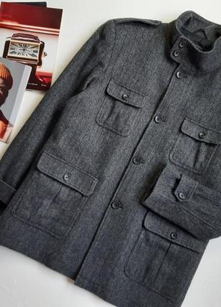 Мужское пальто, демисезон/72 % шерсть