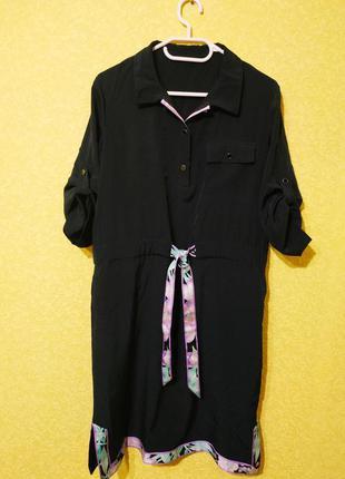 Leonard paris дизайнерское шёлковое платье, натуральный шелк, ...