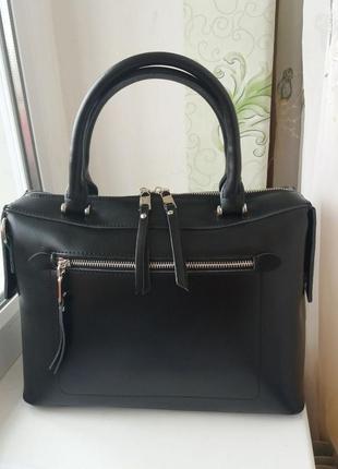 Женская сумка из натуральной кожи кожаная жіноча шкіряна черная