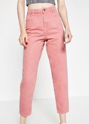 Розовые джинсы мом zara