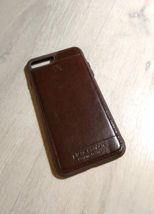 IPhone 7 Plus / 8 Plus чехол кожаный коричневый piere carden