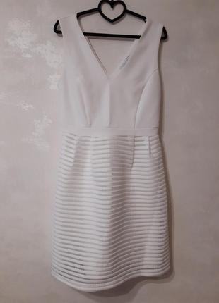 ❄нежно❄ белое❄ платье с красивым декольте