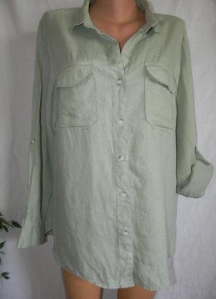 Рубашка лен next