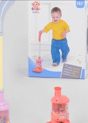 Детский пылесос-каталка светящийся