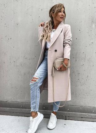 Трендовое пальто на подкладке