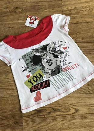Прекрасная качественная мультяшная футболка от дисней