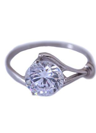 Кольцо из серебра 925 пробы с покрытием из родия мечта с фиани...