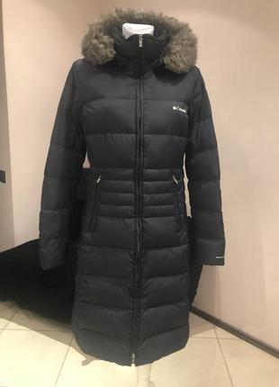 Пуховое пальто пуховик сolumbia. до -20с. размер л