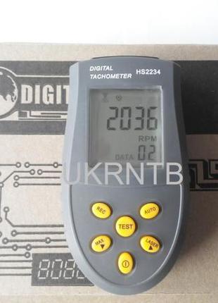 Тахометр бесконтактный электронный цифровой лазерный 3-99999 об