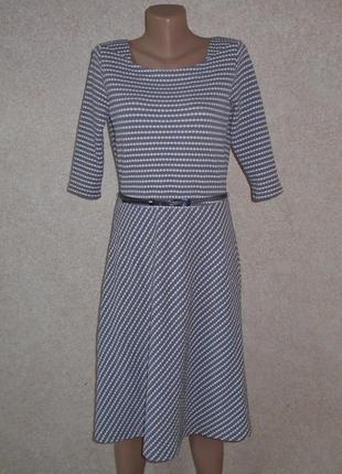 Фактурное платье миди а-силуета/сукня міді/плаття