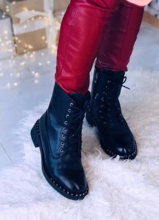 Зимние ботинки из эко-кожи