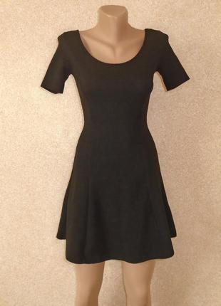Фактурное платье мини/маленькое черное платье/коктейльное/сукн...