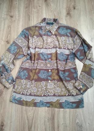 Шелковая блуза рубашка, италия