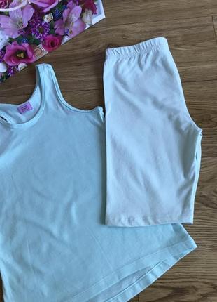 Качественные комфортные мятные шорты 10-11 лет