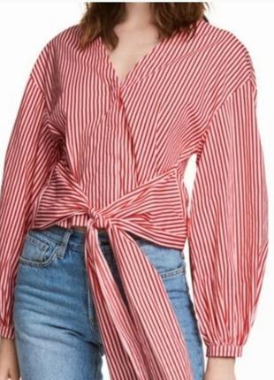 """Блуза на запах с объемными рукавами """"h&m"""""""