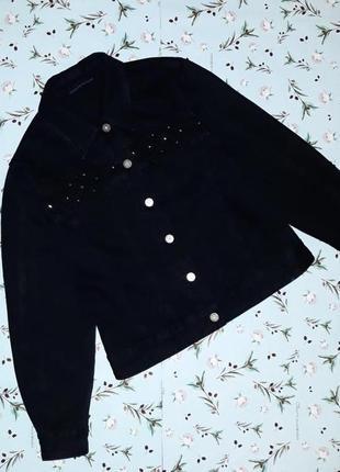 🎁1+1=3 фирменная черная джинсовая куртка олдскул lafeinier, ра...