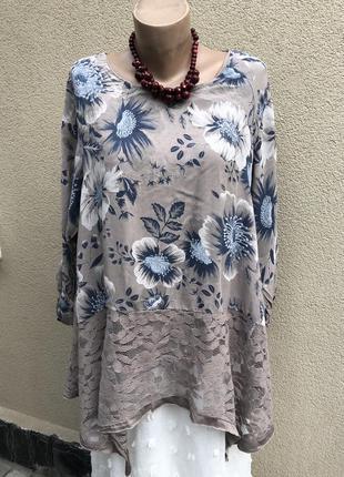 Вискоза,штапель,кружево,ассиметрия блуза,рубаха,этно бохо стиль,