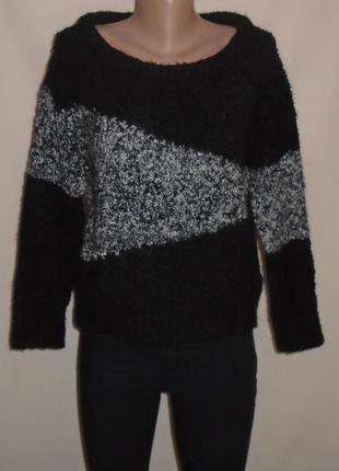 Тёплый шерстяной (15%) свитер-букле/светр шерстяний/джемпер/кофта