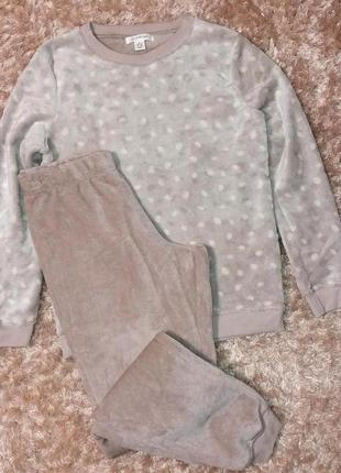 Плюшевая пижама или костюм для дома, анг. 10-12 р. (евро 38-40...