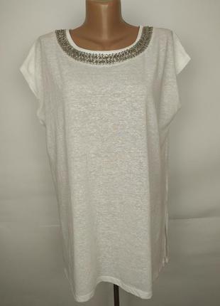 Блуза белая красивая с ожерельем atmosphere uk 16/44/xl