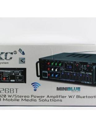 Усилитель мощности звука AV-326 BT Bluetooth 2 канала по 150 вт