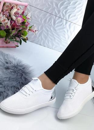 Sale белые женские кроссовки кеды мокасины слипоны