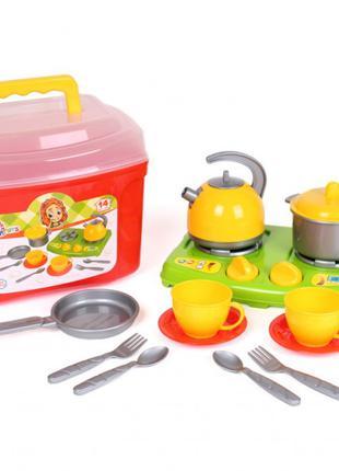 Игровой набор посудки в чемоданчике 5934TXK, 14 элементов