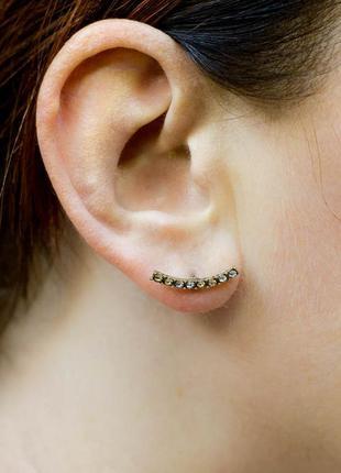 Джекеты серьги стразы сережки кристаллы камни украшение бижуте...