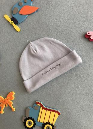 Тоненькая однослойная шапочка/чепчик на новорожденного