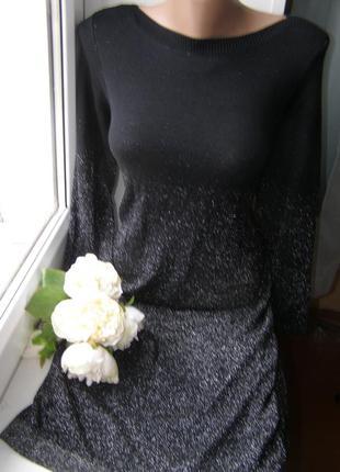 Evans нарядное платье с люрексом миди l-xl размер