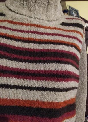Шикарний тепленький вязаний світер (кофта), пуловер berkertex....