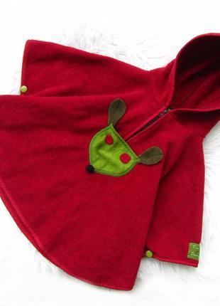 Качественная реглан  - кофта пальто разлетайка с капюшоном