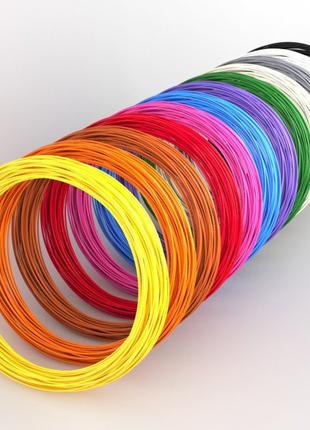 Пластик к 3D ручке. Эко 3D-пластик PLA. Набор из 20 цветов. (2...