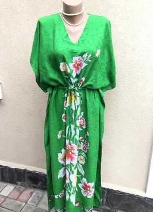 Платье реглан,цветочный принт,этно бохо стиль,летнее,пляжное,т...