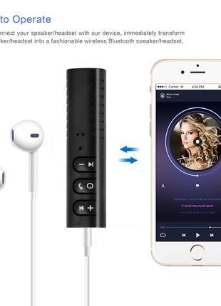 Bluetooth приемник  AUX аудио 3,5 мм. Салатовый
