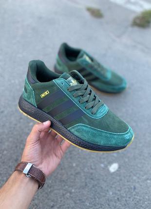 Демисезонные мужские хаки кроссовки Adidas INIKI