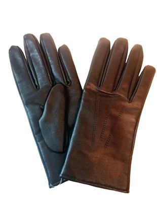 Перчатки кожзам и вязанная шерсть размер M-L, укр 8.5-9