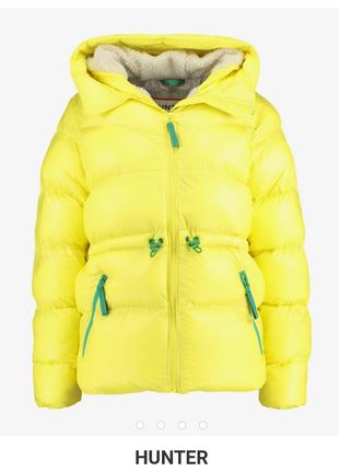 Новый пуховик оверсайз hunter ярко-жёлтый куртка