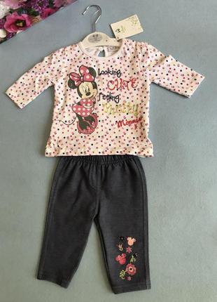 Качественный комплект кофточка+штаники от дисней для новорожде...