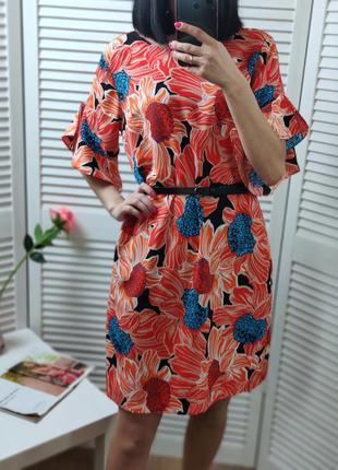 Платье в цветочный принт dorothy perkins, p-p uk 12/м