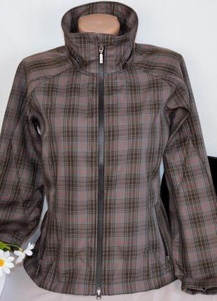 Брендовая легкая тонкая куртка жакет на молнии с карманами в к...