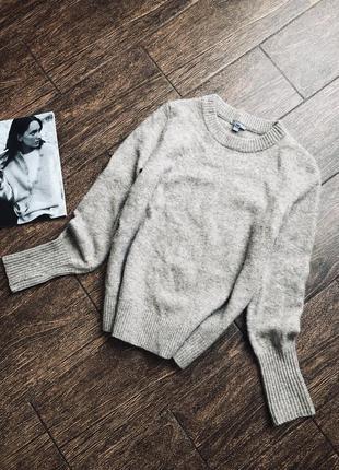 Шикарный теплый свитер из альпаки и шерсти