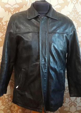 Кожаная куртка с подстежкой. sam fun. размер 52