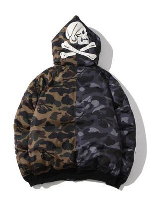 Зимняя куртка bape x nbhd