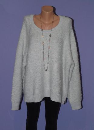 Светло-серый теплый свитер gap gap