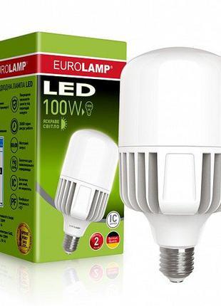 Світлодіодна лампа EUROLAMP 100W E40 6500K 220V (LED-HP-100406)